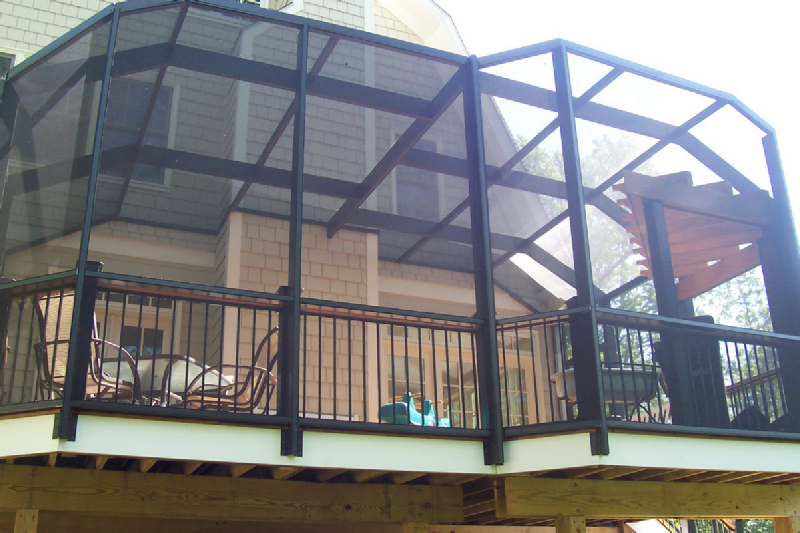 screened in deck. Elevated Deck Enclosure - Spartan Screen Screened In C